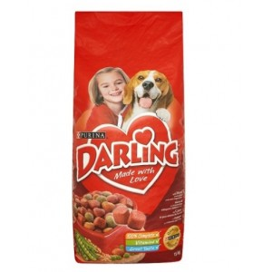 Sausas šunų ėdalas DARLING, su vištiena ir daržovėmis, 15 kg