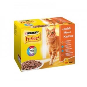 Konservuoto ėdalo katėms rinkinys FRISKIES, 12x85g