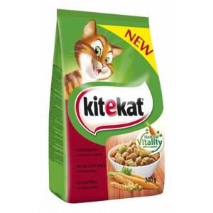 Sausas ėdalas katėms KITEKAT, su jautiena ir daržovėmis, 300 g