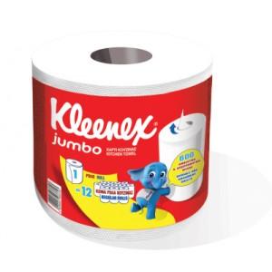 Popierinis rankšluostis KLEENEX Jumbo, 600 lapų