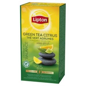 Arbata žalioji LIPTON, su citrusinių vaisių žievelėmis, 25 vnt.