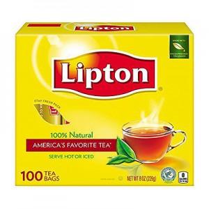 Arbata  juoda Lipton, 100 vnt