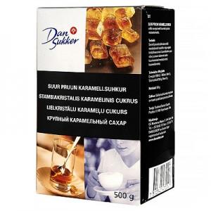Cukrus karamelinis stambiakristalis DAN SUKKER, 500 g