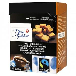 Cukrus rudas gabalinis DAN SUKKER,  500 g
