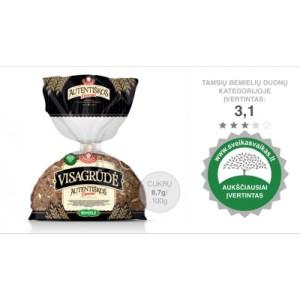 Duona bemielė visagrūdė raikyta, 300 g