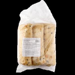 Šaldyta duonelė šviesi itališka Ciabatta, 300 g x 3 vnt