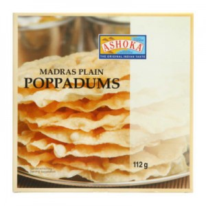 Paplotėliai indiški POPPADUMS, 112 g