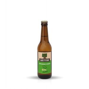 Nealkoholinis obuolių sidras El Gaitero Sin, 330 ml