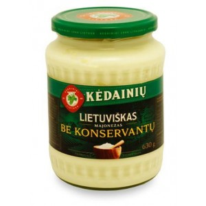 Majonezas Lietuviškas be konservantų 61% KKF, 630 g