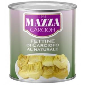 Artišokai pjaustyti vandenyje MAZZA, Italija 2,6 kg / 1,2 kg