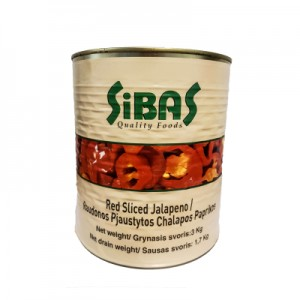 Paprika aitrioji pjaustyta Jalapeno RED,  3 kg / 1,500 kg