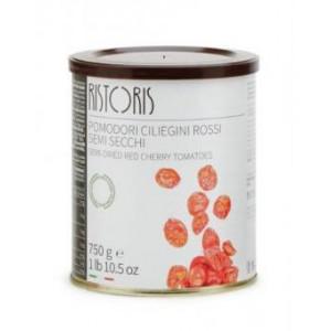Pusiau džiovinti raudoni vyšniniai pomidorai, RISTORRIS, 750g/450g