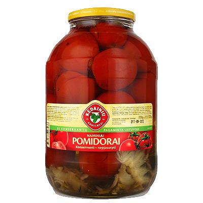 Pomidorai raudoni acto marinate  1,6 kg / 0,8 kg