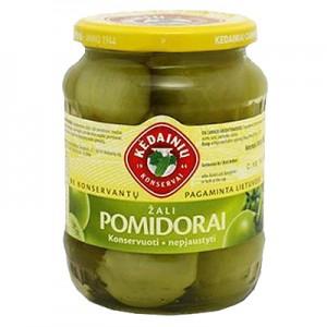 Pomidorai žali acto marinate KKF 3 kg / 1,5 kg