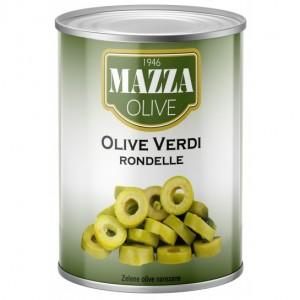 Alyvuogės žalios pjaustytos MAZZA, 2,6 kg / 1,32 kg
