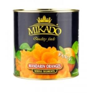 Mandarinai konservuoti MIKADO, 2,5 kg / 1,5 kg