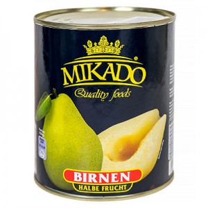 Kriaušės Mikado,  820 g / 490 g