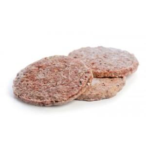 Hamburgerio mėsos paplotėliai, šaldyti, KOGUS, 35 x 150 g, 5,25 kg