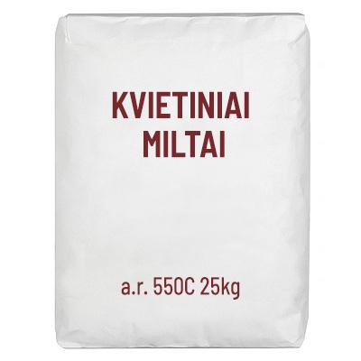 Kvietiniai miltai a.r. 550 C,  25 kg