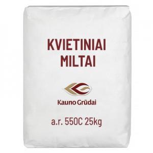 Kvietiniai miltai aukš.r. 550 C Kauno grūdai, 25 kg