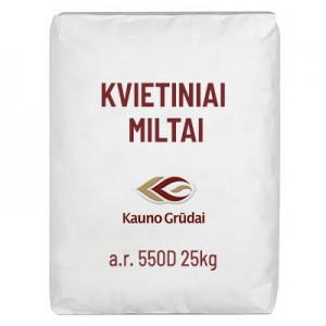 Kvietiniai miltai a.r. 550D,  Kauno grūdai  25 kg