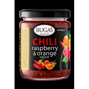 BUGA's Aitriųjų paprikų ir aviečių-apelsinų padažas, 170 g