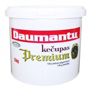 Kečupas Premium Daumantų 26% pastos, 5 kg