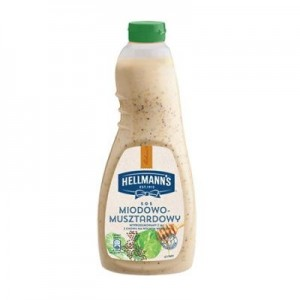 Medaus ir garstyčių salotų užpilas, Hellmanns, 1 L