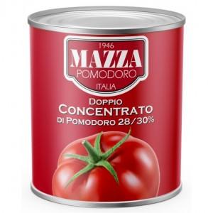 Pasta pomidorų 28/30 brixų MAZZA Italija, 4,5 kg