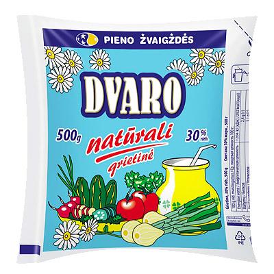 Grietinė natūrali  30 % DVARO, 500 ml