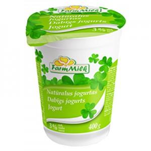 Jogurtas naturalus FARM MILK  3 %, 400g