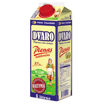 Pienas 3,5 % DVARO 1 L