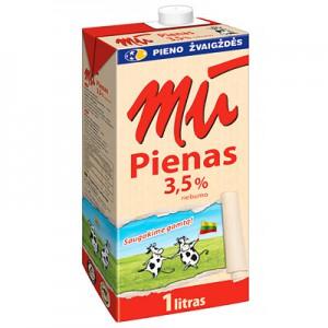 Pienas natural. MŪ 3,5 %, 1l