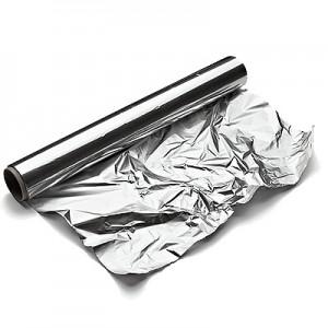 Aliuminio folija  44 cm / 80 mk / 1,5 kg  150 m