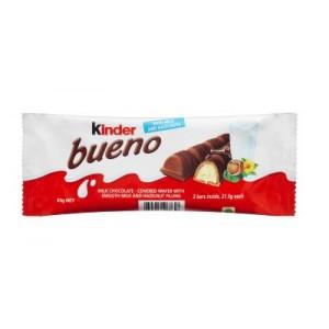 Batonėlis šokoladinis Kinder Bueno, 43 g (10 vnt dėžutė)