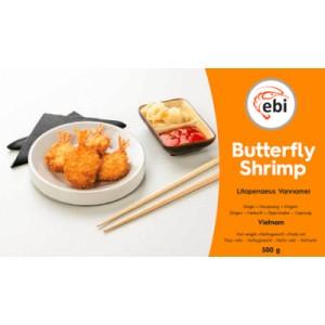 Krevetės su uodega džiuvesėliuose Butterfly, 500 g