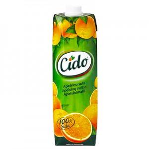 Apelsinų sultys Cido  100%, 1 L