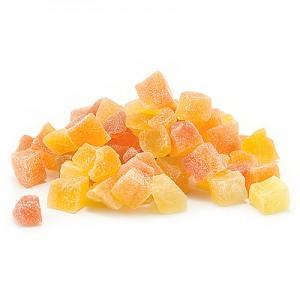 Papajų kūbeliai cukruoti, 1 kg