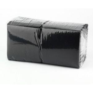 Servetėlės juodos, 1 sl., 24x24cm, 400 vnt