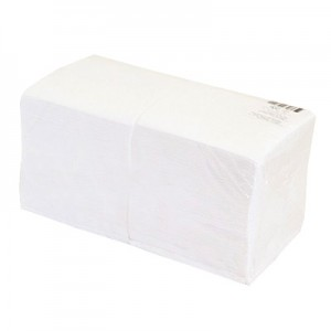 Servetėlės baltos, 1 sl., 24x24cm, 400 vnt