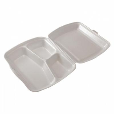 Biodėžutė maistui išsinešti, 3 skyrių, (22,3cm x 20,1 cm x 7,5 cm),  50 vnt