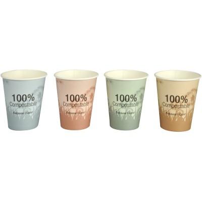 Ekologiški kompostuojami puodeliai 240 ml, 50 vnt