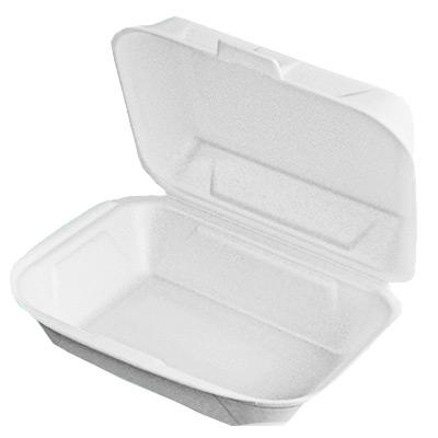 Biodėžutė maistui išsinešti, 1 skyriaus (22 cm x 22 cm x 8 cm), 50 vnt